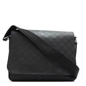 Louis Vuitton Bag Shoulder Messenger District PM Damier Infineonyx Black N41286 Mens LOUISVUITTON