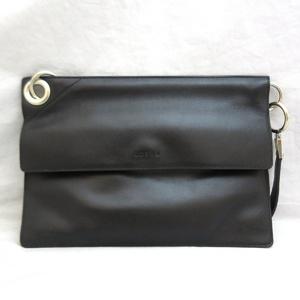 Loewe Bag Shoulder Vintage Leather Hand Black Ladies LOEWE