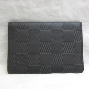 Louis Vuitton Organizer De Posh Black Onyx Card Case Business Holder Men Women Ladies Damien Infini N63012 LOUISVUITTON