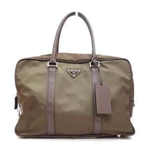 Prada Bag Boston Business Tesuto x Saffiano Nylon Burch Art Brown VS0150 Men's PRADA