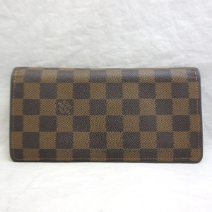 Louis Vuitton Portofeuille Blaza Ebene Brown Long Wallet Bi-Fold Men's Women's Damier N63168 LOUISVUITTON