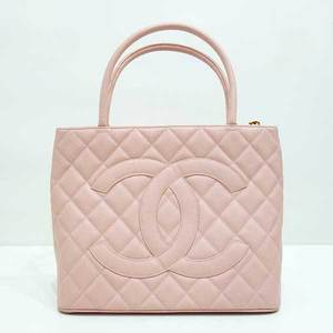 Chanel Bag Reprint Tote Pink Caviar Skin Matrasse Gold Hardware Coco Mark CHANEL