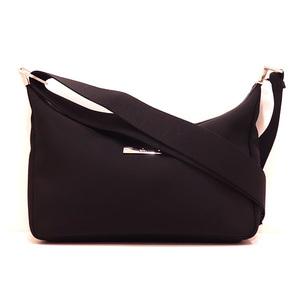 Gucci Shoulder Bag Black Ladies Men Nylon Canvas x Leather 019 0433 GUCCI