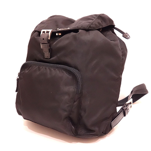 Prada Bag Rucksack Backpack Triangle Logo Nylon Nero Black B4650 Ladies Men PRADA