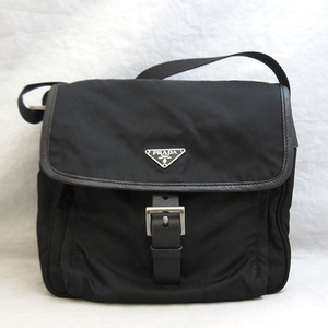 Prada Shoulder Bag Nero Black Messenger Triangle Logo Men Women Nylon BT0173 PRADA