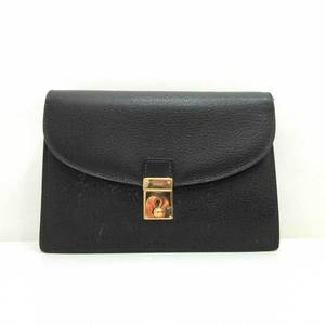 Gucci Bag Clutch Second Old Leather Black 018 122 1940 Men Women Ladies GUCCI