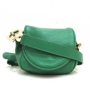 See by Chloé Seeby Chloe Shoulder Bag Pochette Green Mini Ladies Leather SEEBYCHLOE