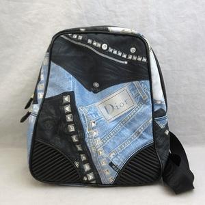 Christian Dior Bag Backpack Rucksack Canvas Nylon Ladies ChristianDior