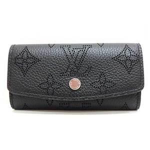 Louis Vuitton Key Case 4 Multicle Monogram Mahina Noir Black M64054 Ladies Men LOUISVUITTON