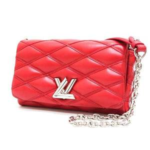 Louis Vuitton Bag Shoulder Chain GO-14PM Martage Twist Lock Lambskin Red M50275 Ladies LOUISVUITTON
