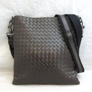 Bottega Veneta Bag Shoulder Intrecciato 276357 Leather Men's Brown BOTTEGA VENETA