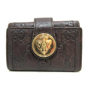 Gucci 6 consecutive key case brown histeria crest ladies' men's Shima 190357 GUCCI