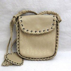 Christian Dior bag pochette canvas leather mini shoulder ladies DIOR