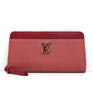 Louis Vuitton Wallet Long Zippy Lock Me Round Fastener Calf Rose Boudwar x Redouvan Pink M62949 Ladies LOUISVUITTON