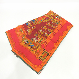 Hermes Carre 90 Astronomical and Sun ASTRESetSOLEILS Multicolor People Ladies Silk HERMES