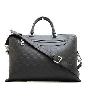 Louis Vuitton Bag Shoulder Business Briefcase Hand PDJNM Porte Documanjour NM 2way Damier Infineonyx Black N48262 Men's LOUISVUITTON