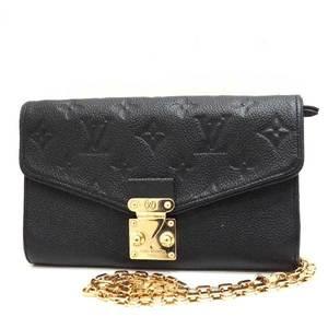 Louis Vuitton Bag Wallet Long Chain Pochette Saint Germain Monogram Anplant Noir Black M60638 Ladies LOUISVUITTON