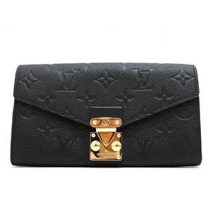 Louis Vuitton Wallet Long Bi-Fold Porteau Foyumetis Monogram Anplant Noir Black M62458 Ladies LOUISVUITTON