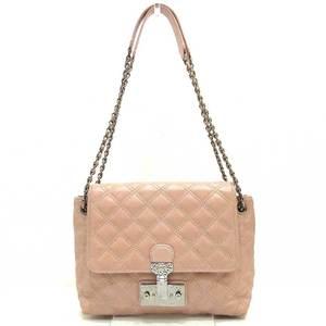 Marc Jacobs Shoulder Bag Pink Beige Chain Semi 2way Ladies Leather MARCBYMARCJACOBS