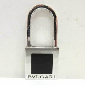 Bvlgari Keychain Bag Charm Black x Silver Color Cadena Motif Men's Women's Metal BVLGARI