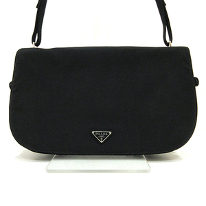 Prada Shoulder Bag Black Nero One Semi Triangle Logo Ladies Nylon PRADA