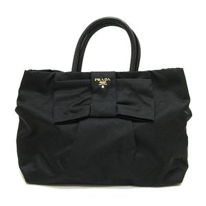 Prada Handbag Tote Bag Black Nero Ribbon Ladies Teste x Leather Nylon BN1601 PRADA