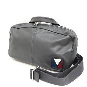 Louis Vuitton Bag Body Waist Pouch Shoulder Fast Gaston V Line 2way Calf x Nylon Asphalt Gray M50445 Men's LOUISVUITTON