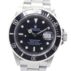ROLEX Rolex Submariner P No. 16610 Stainless Steel Automatic Winding Men's Black Dial Wrist Watch