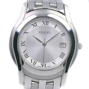 GUCCI Gucci 5500M Stainless Steel Quartz Men's Silver Dial Wrist Watch