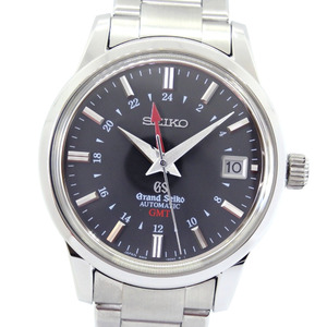 SEIKO Seiko Grand Mechanical GMT 9S66-00E0 Stainless Steel Automatic Winding Men's Gray Dial Watch