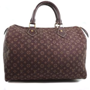 LOUIS VUITTON Louis Vuitton Speedy 30 M95224 Monogram Idir Ebene Dark Brown Ladies Handbag