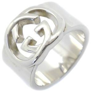 GUCCI Gucci interlocking silver 925 10.5 No. 11 stamped ladies ring