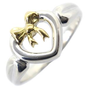 TIFFANY & Co. Tiffany Ribbon Silver 925 K18 Yellow Gold No. 14 Ladies Ring