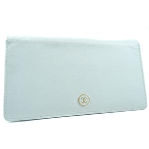 CHANEL Coco Mark Calf Ladies Wallet