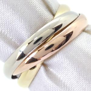 CARTIER Trinity Ring K18 Gold No. 12 YG WG PG Ladies