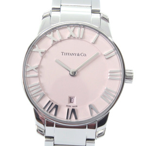 TIFFANY & Co. Atlas 2 Hand 35188576 Stainless Steel Quartz Ladies Pink Dial Watch
