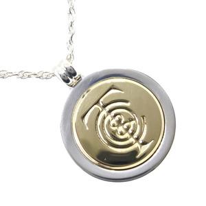 TIFFANY & Co. Tiffany symbol pendant in 18k yellow gold silver 925 unisex necklace.