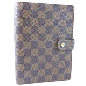 LOUIS VUITTON Louis Vuitton Agenda MM R20240 Damier Canvas Unisex Notebook Cover