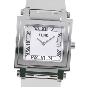 FENDI Fordi Orologie 007-6000G-697 Stainless Steel Silver Quartz Men's White Dial Wrist Watch