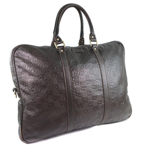 GUCCI Gucci 201480 Shima Leather Men's Business Bag