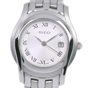 GUCCI Gucci 5500L Stainless Steel Quartz Ladies Silver Dial Wrist Watch