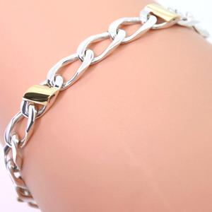 TIFFANY & Co. Tiffany Chain Combi K18 Yellow Gold Silver 925 Ladies Bracelet
