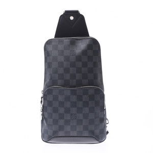 LOUIS VUITTON Louis Vuitton Damier Graphite Avenue Sling Bag Gray N41719 Men's Body