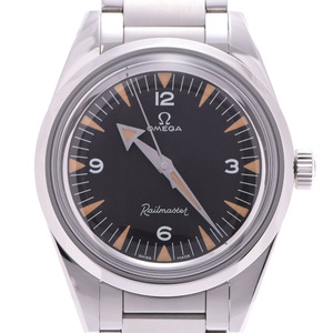 OMEGA Omega Trilogy Railmaster 60th LIMITED Limited 220.10.38.20.01.002 Men's SS Watch Automatic Winding Black Dial