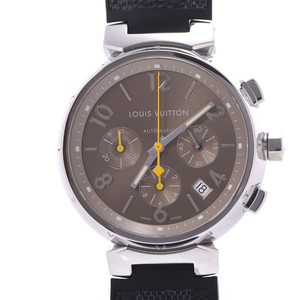 LOUIS VUITTON Louis Vuitton Tambour Chrono Q11220 Mens Steel Watch Automatic Dial