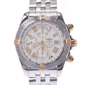BREITLING Chronomat Evolution 18K Gold Steel Mens Watch B13356