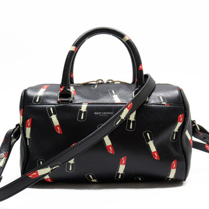 Saint Laurent Shoulder bag 2Way Mini handbag Black Red Ivory Leather Ladies