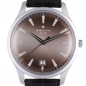 Zenith Captain Elite Central Second Men's Watch 03.2020.670 22.C498 Stainless Steel Gray Dial DH57073