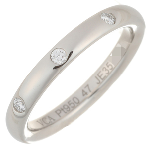 Van Cleef & Arpels Infinet Etoile 3P Diamond Ladies Ring Pt950 Platinum 7 Silver DH57137