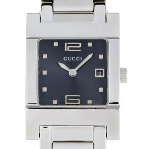 Gucci Rectangular Ladies Watch 7700L Stainless Steel Black Arabian Dial DH57076